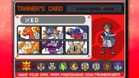 My Trainer Card History Of Pokémon Black And White 2 Youtube