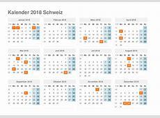 kalender 2018 Schweiz Ausdrucken, Ferien, Feiertage, Excel