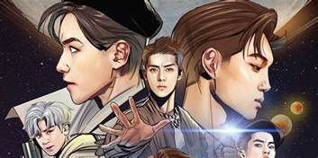 EXO turn into comic book characters for 'Power' album cover   allkpop.com