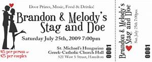 georgeous o jack and jill tickets and invitations jack With stag and doe ticket templates