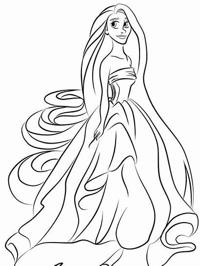 Coloring Princess Pages Printable Belle Blank