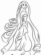 Coloring Pages Princess Jasmine Rapunzel Snow sketch template