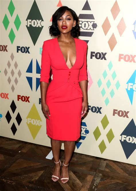 Meagan Good Showing Huge Cleavage At The Fox Summer Tca Party In West Hollywood