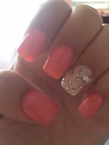 Acrylic Nails with Bows and Diamonds