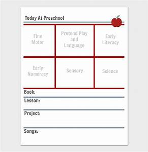 preschool lesson plan template daily weekly monthly With daily lesson plan template for kindergarten