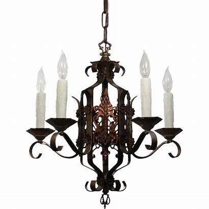 Iron Chandelier Antique Wrought Tudor Lighting