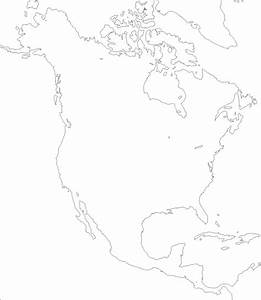 Free Blank Map Of North And South America At Blank Map Of