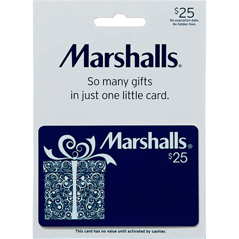 car audio equipment marshalls gift card shoes apparel gifts food