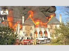 District of Columbia area mansion engulfed in flames Video