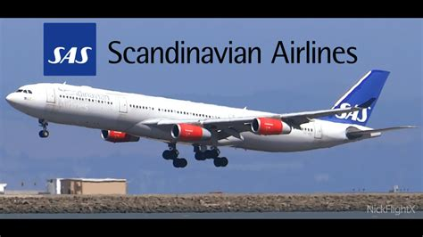 hd scandinavian airlines sas a340 313 oy kbc landing at
