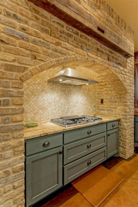 pin  erika  kitchen rustic kitchen brick kitchen