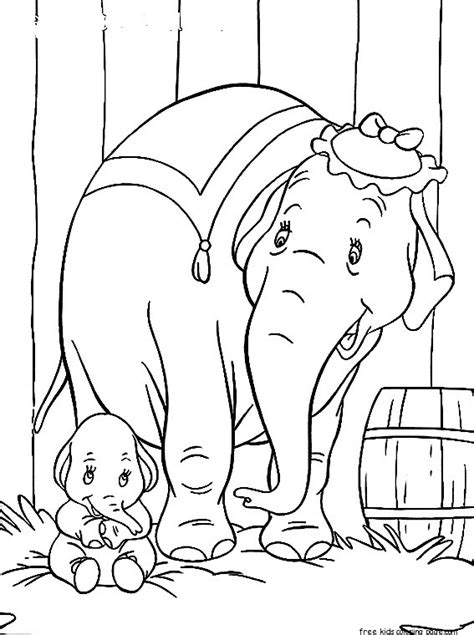 disney characters dumbo  elephant matriarch coloring