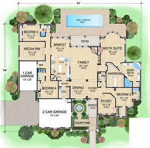 4 bedroom 1 house plans european style house plans 4045 square home 1 4 bedroom and 4 bath 3 garage