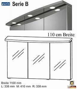 Spiegelschrank 110 Cm : puris system spiegelschrank 110 cm breite mit led einbaustrahler s2a431162 impuls home ~ Indierocktalk.com Haus und Dekorationen