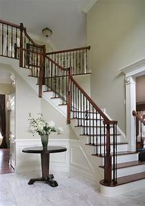Dramatic Entry Way with Staircase - Traditional
