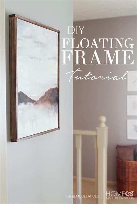canvas floater frame kit tutorial chic floating frame for a canvas remodelaholic