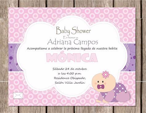Invitación P/imprimir Baby Shower Niña Bebé Gateando
