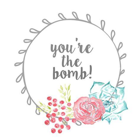 bath bomb gift tag  printable bath bomb gift bath