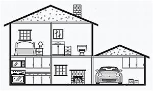 Inside House Drawing Sketch Coloring Page
