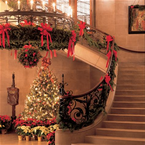 christmas staircase decorations natural interior design