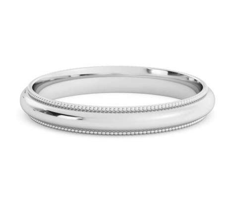 platinum milgrain wedding band or rings 3mm platinum wedding band or ring