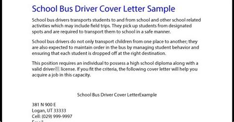 great sle resume school driver cover letter sle