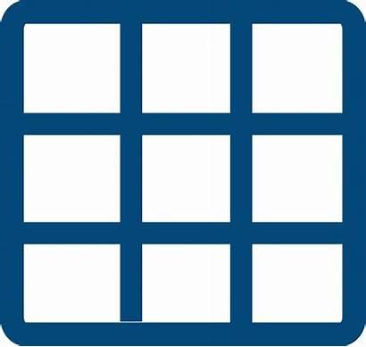 Grid Clipart Matrix Clip Icon Solid Transparent