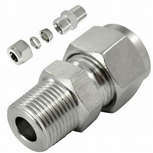 1  8 U0026quot  Npt X 6mm Male Compression Fitting Tube Double
