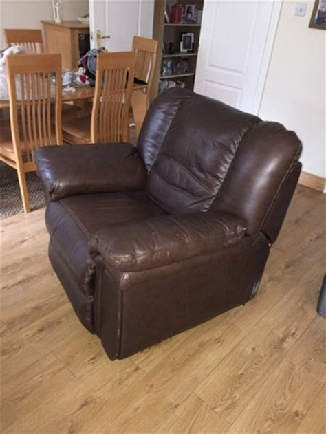 brown leather reclining chair for sale in leixlip kildare