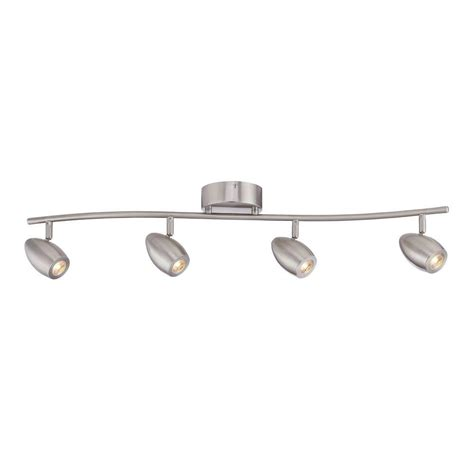 brushed nickel track lighting kits envirolite 3 ft brushed nickel led track lighting kit