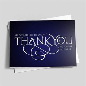 Business thank you scroll thank you cards from cardsdirect for Thank you cards for business customers