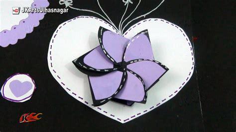 small paper flower card  scrapbooks    jk