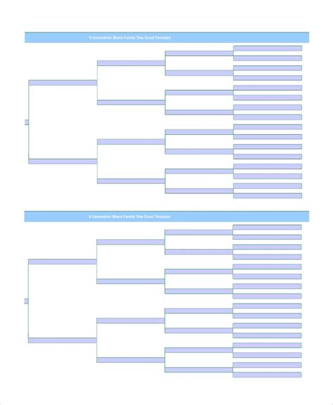 Family Tree Template Pedigree Chart Insssrenterprisesco Family Tree Format In Excel Narsu Ogradysmoving Co