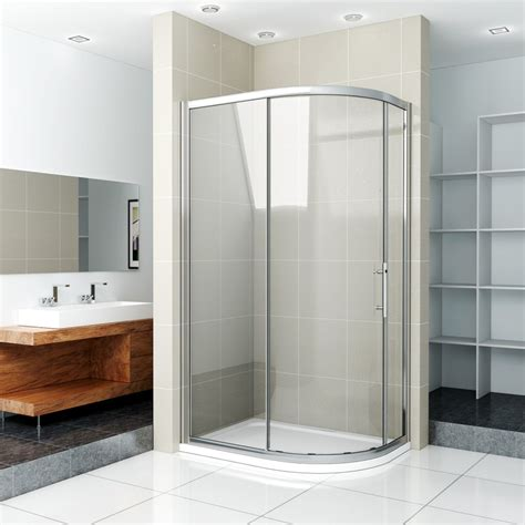offset quadrant shower enclosure tray corner cubicle