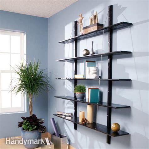 how to build a bookshelf how to build suspended bookshelves the family handyman
