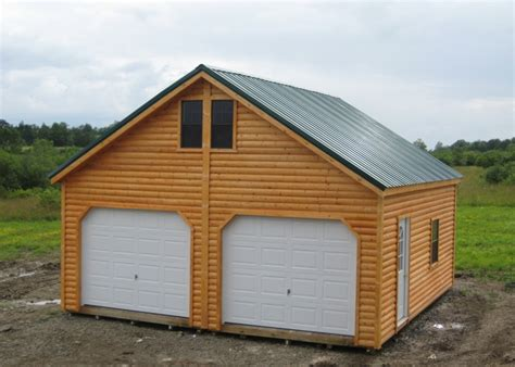 Cheap Shed Siding Ideas by Log Siding On This Woodtex Garage Garages Woodtex