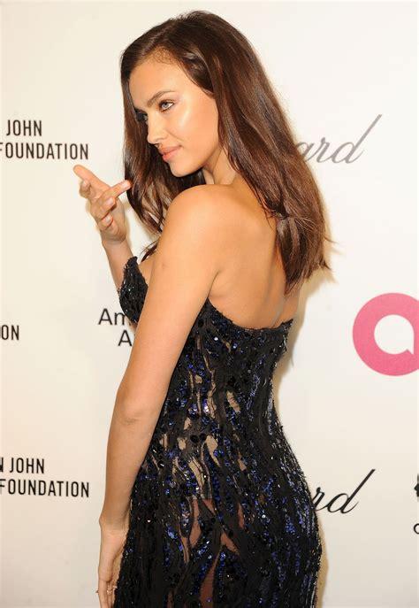 Irina Shayk Hot Red Carpet Photos - 2014 Elton John Oscar ...