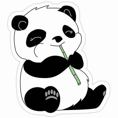 Sticker Redbubble Panda Stickers Printable Aesthetic Kawaii