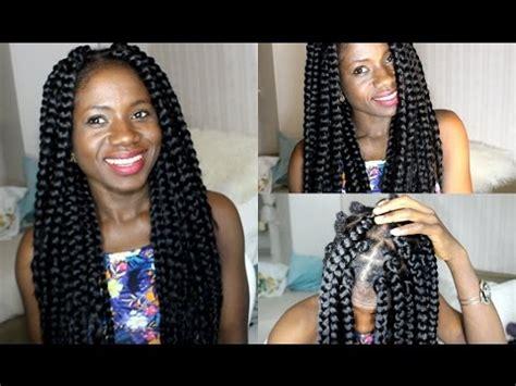 big box braids proctective style youtube