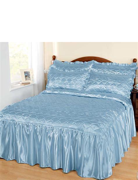 couvre si鑒e satin couvre lit avec gratuit oreillers ebay