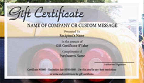 car wash gift certificate templates easy   gift