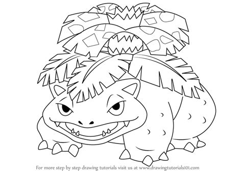 Learn How To Draw Venusaur From Pokemon (pokemon) Step By