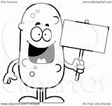 Pickle Holding Coloring Cartoon Mascot Vector Outlined Clipart Cory Thoman Royalty Regarding Notes sketch template