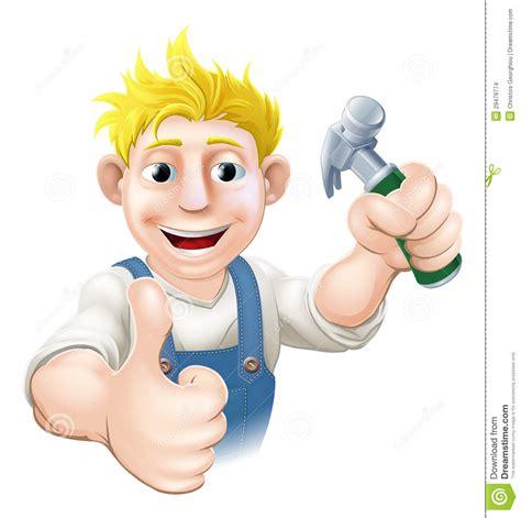 cartoon carpenter  construction guy stock images image