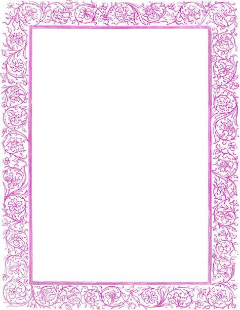 victorian floral border purple pageframesoldornate