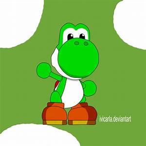 nintendo yoshi fan art mario friends amiibos by ivicarla ...
