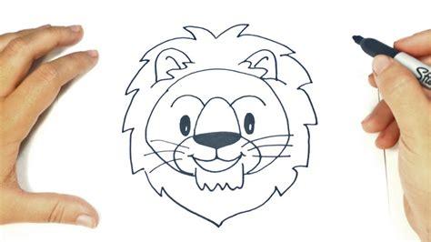 como dibujar la cabeza de  leon paso  paso dibujo