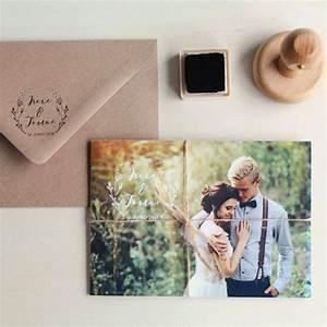 Invitaciones de boda con fotos de novios Elegante How Nice Project