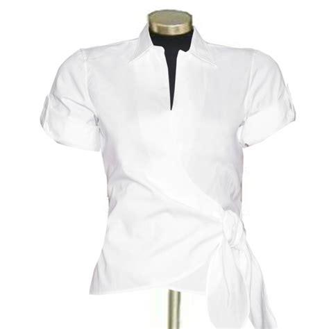 cotton blouses white cotton wrap blouse custom fit handmade cotton