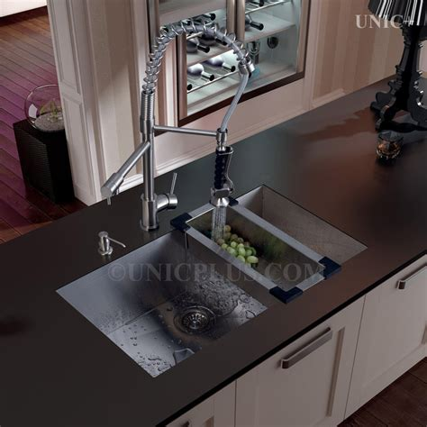 kitchen sink vancouver 32 inch zero radius style stainless steel mount 2959